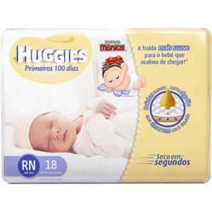 Fralda Turma da Mônica Huggies primeiros 100 dias