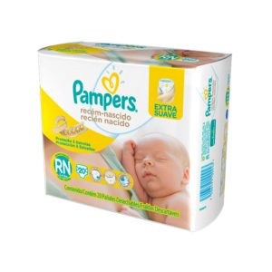 Fralda Pampers Extra Suave RN