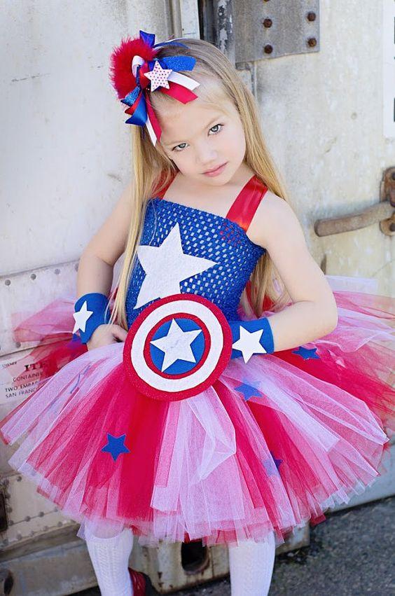 Fantasia Capitão América menina - Blog Meu Estilo de Mãe