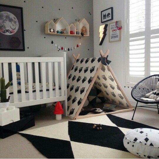 Quarto de bebê em preto e branco - Meu Estilo de Mãe
