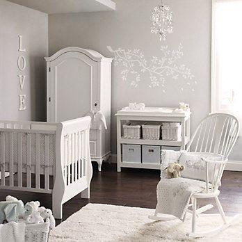Decoração do quarto do bebê branca e delicado - Meu Estilo de Mãe
