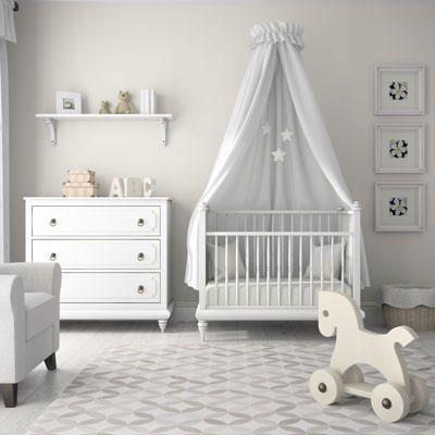 Quarto de bebê com decoração simples e neutra - Meu Estilo de Mãe