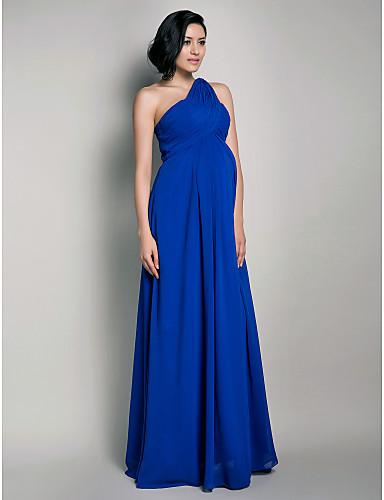 Elegância nesse azul royal que marca a cintura acentuando a barriga